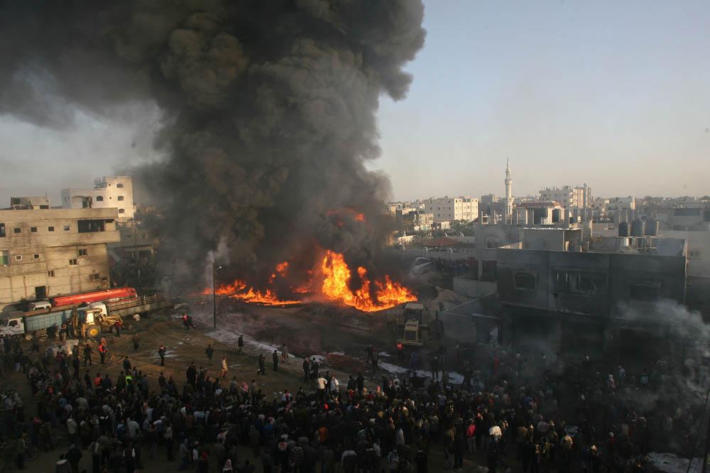 以色列空袭加沙地带_图片:以色列空袭加沙地带